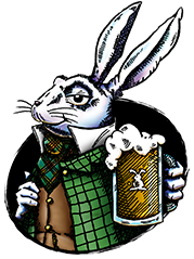 rabbit with beer